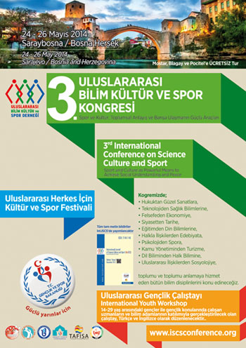 3rd International Conference on Science Culture and Sport Conference Afişi